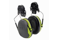 Coquilles antibruit Peltor X4 vert fluorescent avec attache P3E