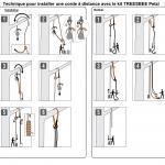Pour installer les cordes à distance et préserver les arbres